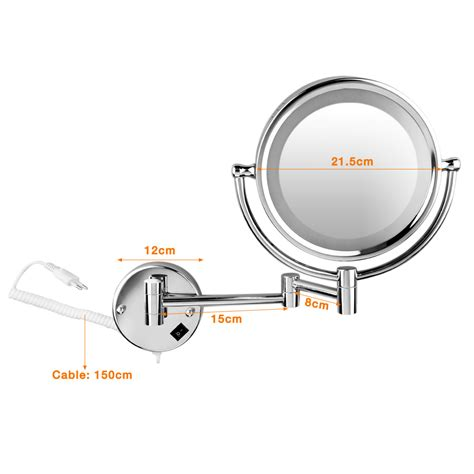 8 5 quot 10x magnification wall mounted makeup side
