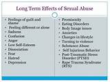 Long term effects of sexual assult