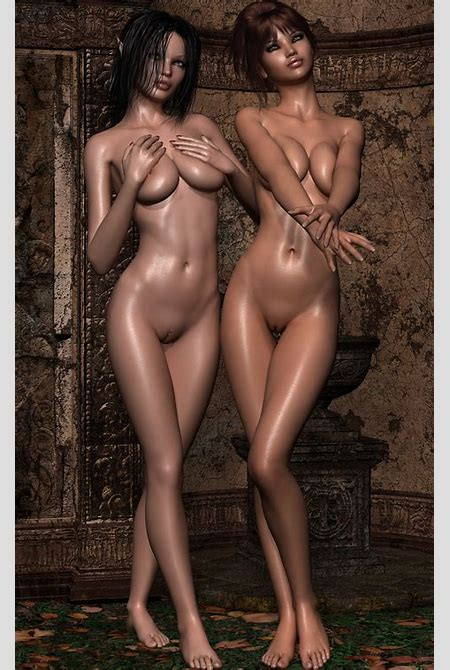 Amazing 3D girls who can't get enough of each other