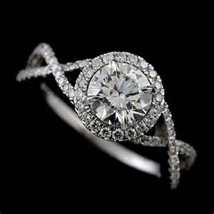 halo infinity engagement ring pave set infinity halo 14k white gold engagement ring mounting orospot jewelry on