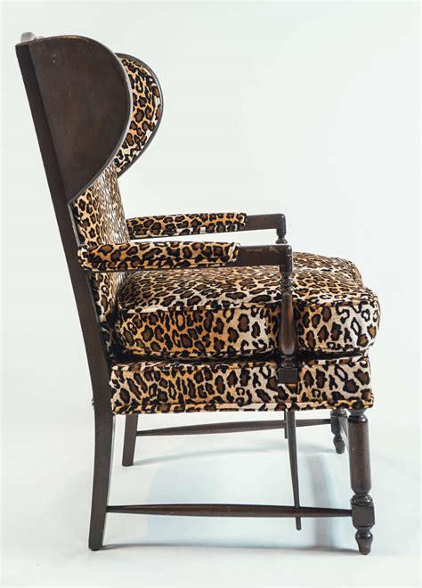 leopard print wingback chair at 1stdibs