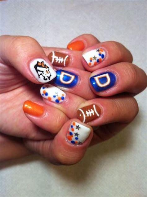 denver broncos nail designs broncos day manicure
