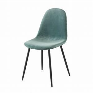 Chaise Bleu Scandinave : chaise style scandinave en velours bleu turquoise maisons du monde ~ Teatrodelosmanantiales.com Idées de Décoration