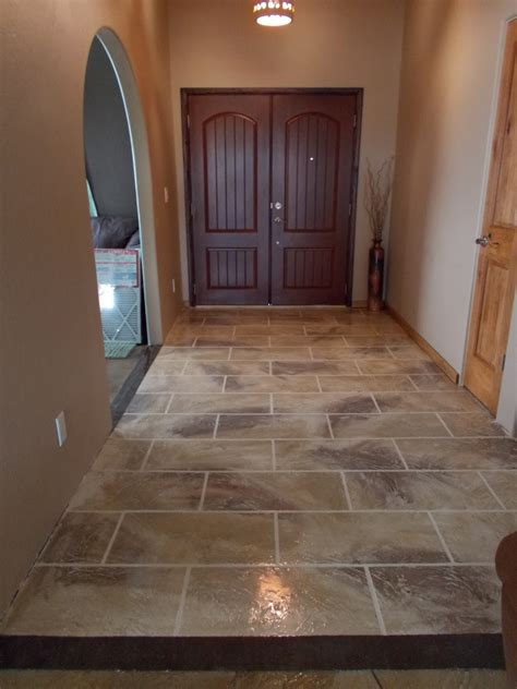 tile flooring entryway tucson concrete decorative concrete flooring overlays