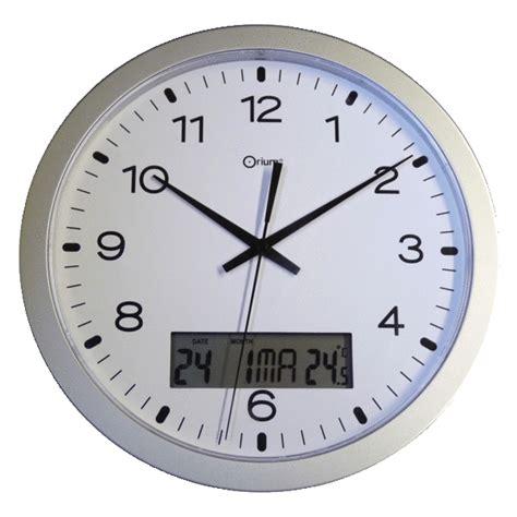 horloge murale 224 233 cran digital 248 300 mm orium 49700025