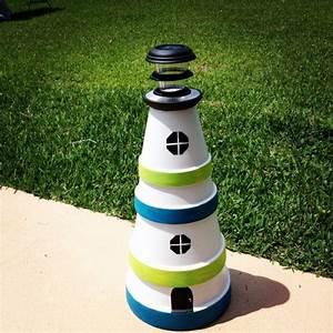 Leuchtturm Für Den Garten : solar leuchtturm garten wei blau gr n bastelideen f d treff ~ Frokenaadalensverden.com Haus und Dekorationen