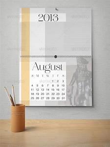 Free desk calendar mock up in psd templates