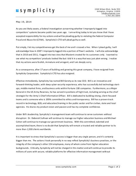 sle letter to staff about employee leaving employee