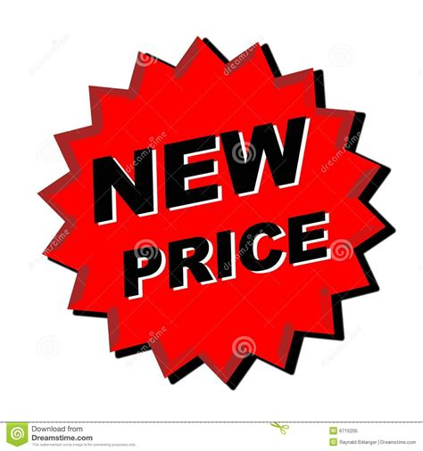 Price Of New by New Price Sign Royalty Free Stock Photo Image 6715205