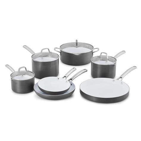 Calphalon Kitchen Essentials Non Stick Cookware by Calphalon Classic 11 Ceramic Non Stick Cookware Set