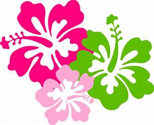 Hibiscus Pink Green Clip Art at Clker.com - vector clip ...