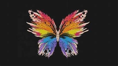 Butterfly Dark Minimal Illust Wallpapers Macbook Backgrounds