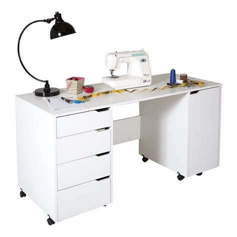 Fillable Craft Table L by South Shore Crea Craft On Wheels White Sewing Table