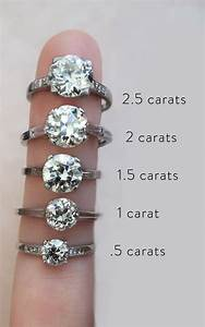 actual diamond carat size on a hand real life With wedding ring diamond size
