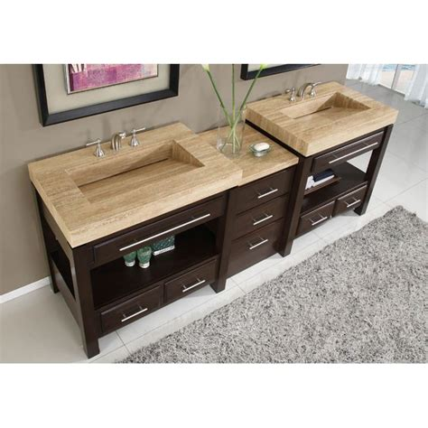 double sink granite countertop silkroad exclusive travertine countertop double stone sink