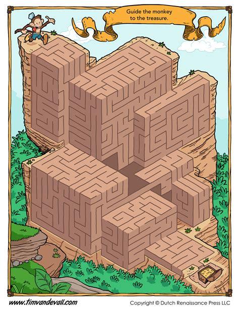 treasure hunt maze tims printables