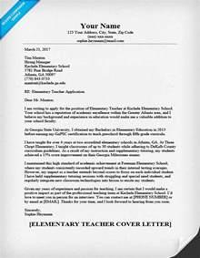 Elementary Teaching Cover Letter Elementary Cover Letter Sle Writing Tips Resume Companion