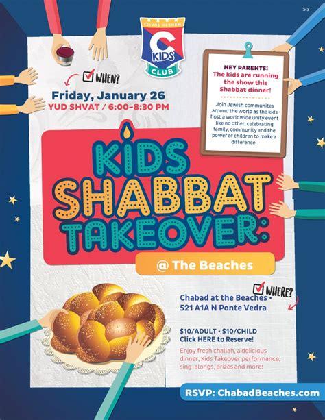 kids shabbat takeover chabad beaches