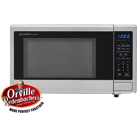 Sharp Microwave Ovens Countertop by Sharp Carousel 1 1 Cu Ft 1000 Watt Countertop Microwave