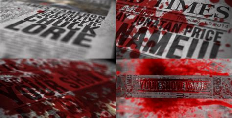 Bloody News After Effects Template Download Free by Blood Newspaper Titles By Riddlerius Videohive