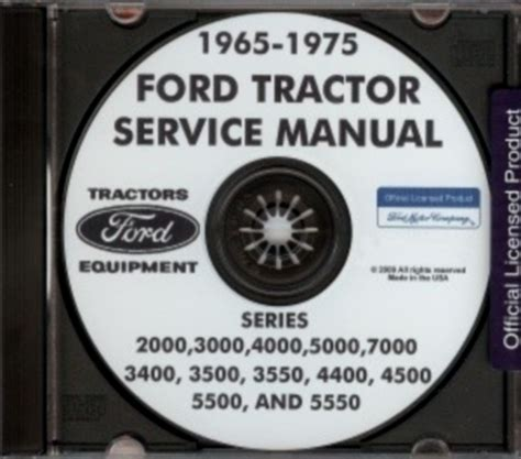 ford   tractor shop manual cd ebay