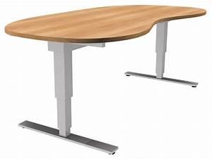 Elektrisch h henverstellbarer tisch xdsm in nierenform for Höhenverstellbarer tisch
