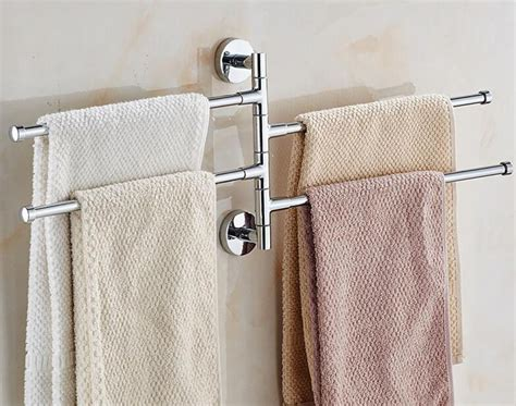 bath bathroom towel bar rack rotating hanger wall mount