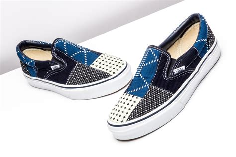 fdmtl x vans slip on quot patchwork quot stadium goods