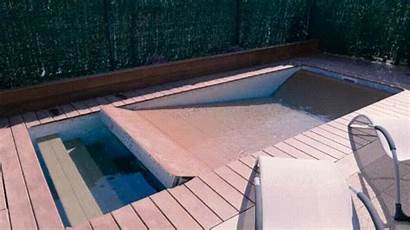 Pool Swimming Deck Turns Into Lift Terrace