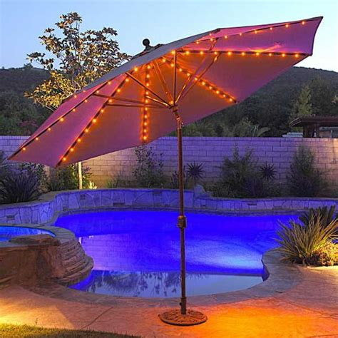 17 best ideas about patio umbrella lights on