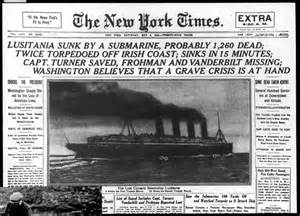 headline of the lusitania ww1 pinterest newspaper