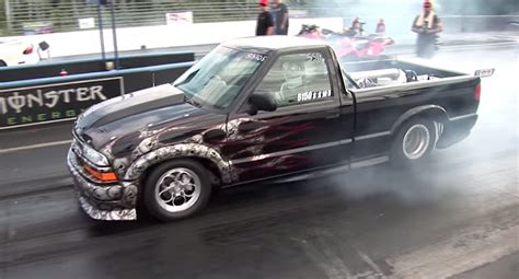 bed mounted turbo chevy  spanks trans   mustang