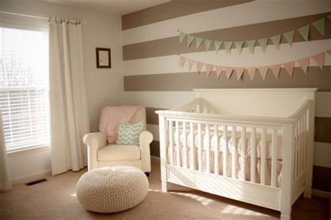 cream nursery  accents  light pink  mint