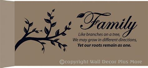Family like branches on a tree Wall Decor Vinyl Decals