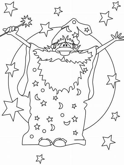 Coloring Wizard Zauberer Ausmalbilder Magic Magier Malvorlagen