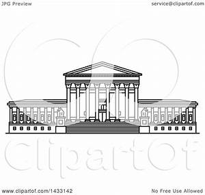 Clipart of a Black and White Line Drawing Styled American ...