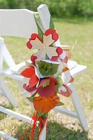Paper Flowers Chair Decoration