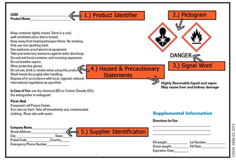 Osha Sds Template by Safety Data Sheet Sds Information Sheet Health And Autos