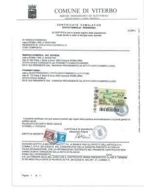 Comune Di Belluno Ufficio Anagrafe by Certificato Contestuale O Cumulativo Dati Anagrafici