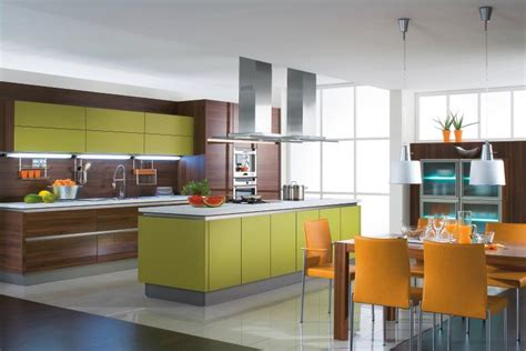 Interior Exterior Plan  Colorful And Elegant Kitchen
