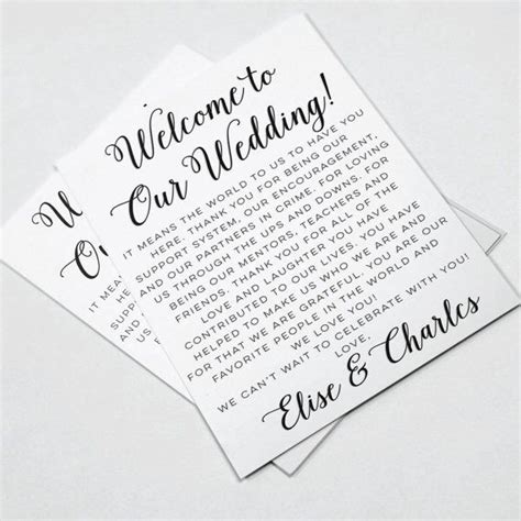 wedding  letters wedding itineraries