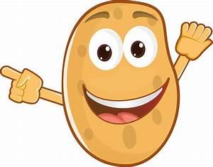 Potato clipart happy - Pencil and in color potato clipart ...