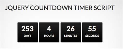 jquery countdown timer designmaz