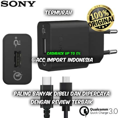 jual charger sony uch 10 uch10 fast charging