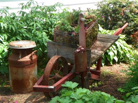 Adding antique rust from the farm to your garden   Flea