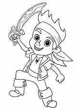 Jake Neverland Pirate Coloring Pirates Pages Easy Drawing Ausmalbilder Hook Printable Princess Colouring Sheet Sheets Dots Izzy Sketch sketch template