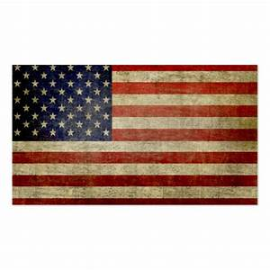 Weathered distressed american flag double sided standard for American flag business cards