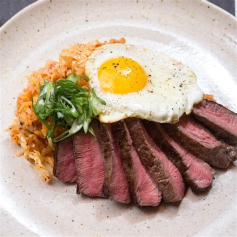 recipe steak eggs  quick kimchi fried rice blue apron