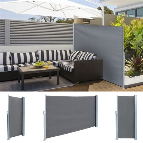 shop real retractable side awning outdoor patio privacy sunshade divider screen