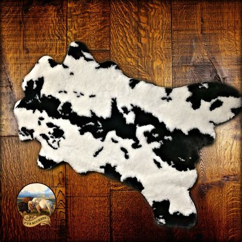 Faux Cowhide Rug Black And White - premium faux fur cowhide rug plush shag throw black